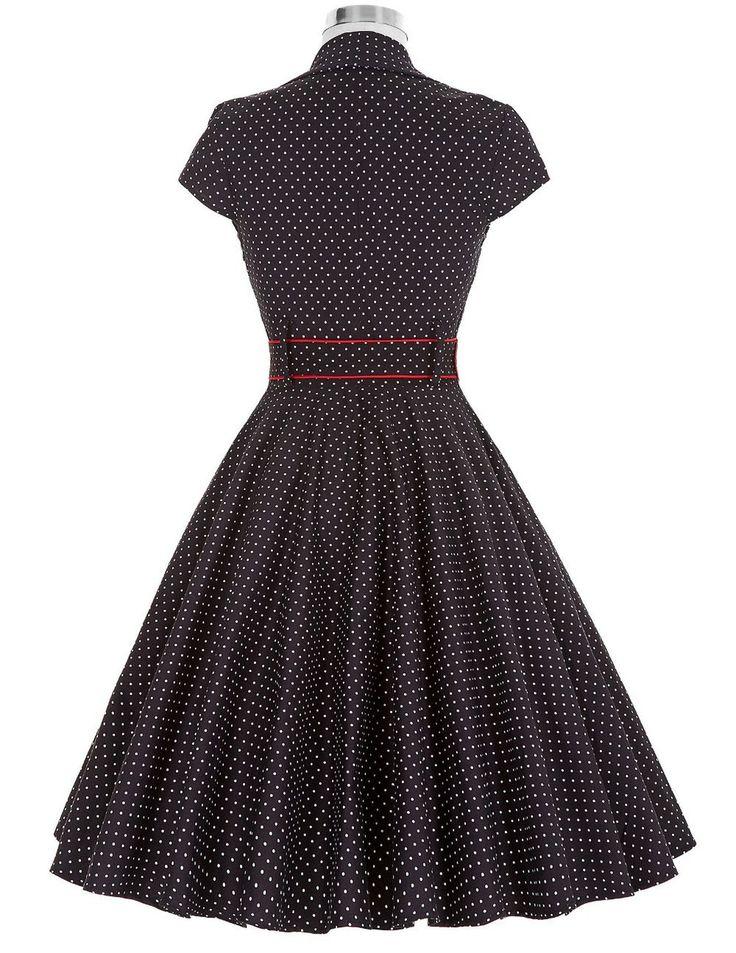 Short Sleeve Vintage Rockabilly Pin Up Dress – ZillyChic