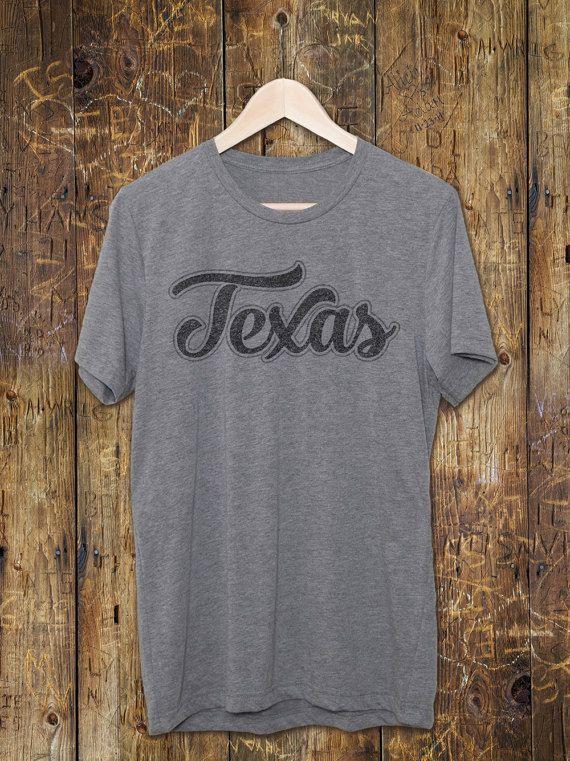 Texas Vintage Graphic Tee - Texas Gifts - Vintage Gray T-Shirts - Vintage Style tshirt - Triblend shirts - Bella + Canvas - Retro