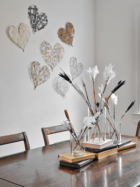 DIY Heart Art Decorations for Valentine's Day..
