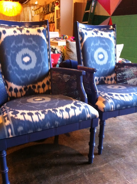 Redone chairs from Furbish...obsessed with these