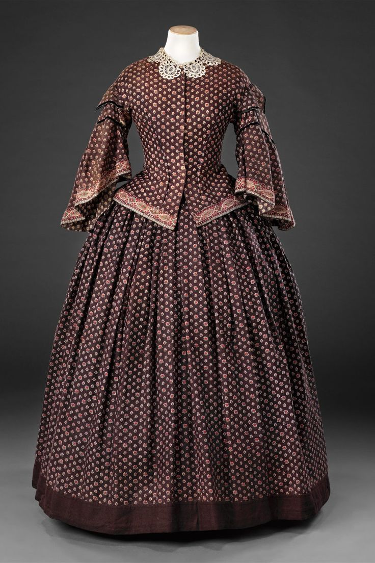 Dress, Mid 1850s, John Bright Collection