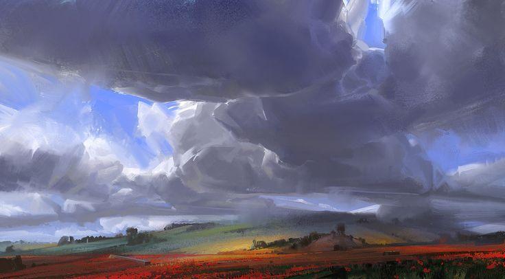 Summer Clouds, Dorje Bellbrook on ArtStation at http://www.artstation.com/artwork/summer-clouds