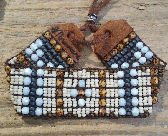 Bead woven bracelets,Southwestern bracelets, Native American  bracelet,Southwest chic,Sterling silver jewelry,Boho jewelry,bohemian cuff