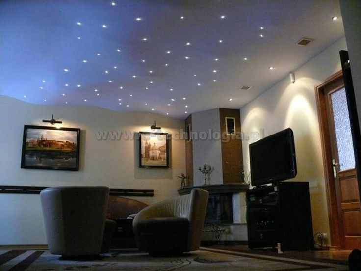 Company E-technology shows the completed project of lighting the living room, which uses a set of professional Planetarium. In the pictures we present an elegant living room with a starry sky. www.e-technologia.pl