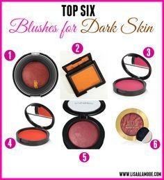 Best Blushes for Dark Skin - Lisa a la mode