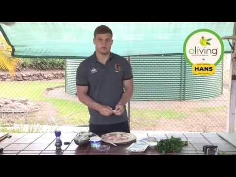 Dale Copley of the #BrisbaneBroncos took time off the field to create a #delicious Mozzarella and #OlivingByHans Traditional #Ham #pizza! For more amazing #recipes, head to www.oliving.com.au.  #TasteOliving #HansOliving #ASliceOfTheGoodLife #Olive #Oil #LowFat #LessGuilty #DontHaveToChoose #Cretan #Diet #Food #Recipe #RecipeOfTheDay #Yum #Cook #Lunch #Dinner #Broncos #Brisbane #Footy #Football #NRL #RugbyLeague #Rugby #League #Football #FootballClub #RugbyClub #LeagueClub