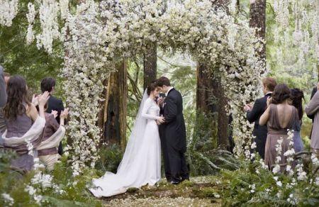 Hydrangeas Wedding flower arch.