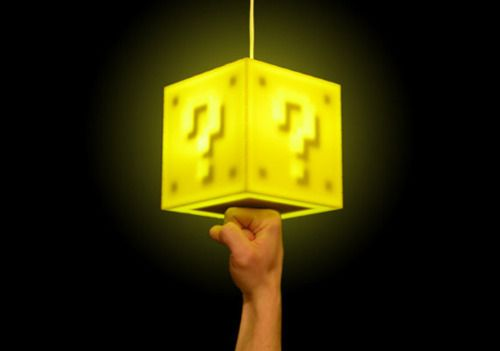 light that turns on when you hit the bottom, just like SuperMarioBros :D