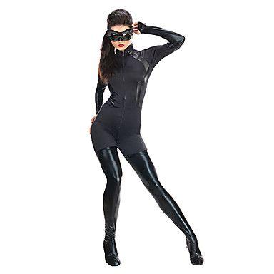Cool Catwoman Black Spandex Lycra Unisex Zentai Suit – USD $ 39.99