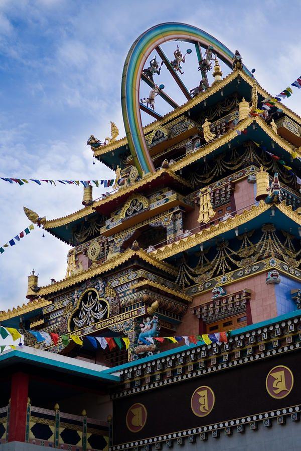 Tibet - Monastère Namdroling Nyingmapa - Oeuvre sur canevas / Canvas Print - Réalisée par Nila Newsom -