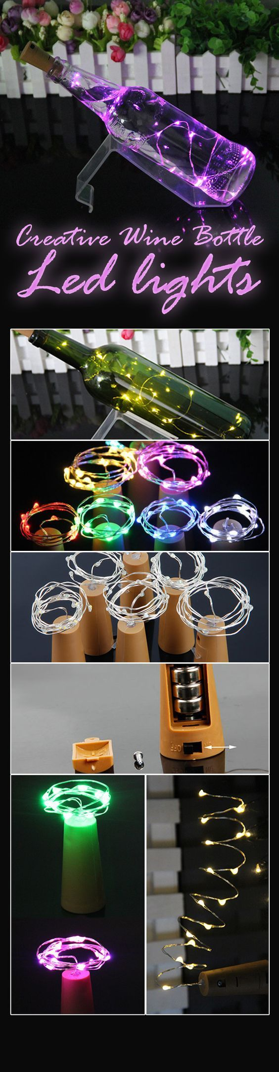 24294f extendable glass dining table - Glass Wine Bottle String Lights Champagne Cork Led Light For Chrismas Festival Party Decor