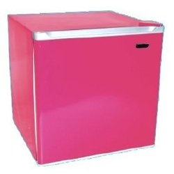 Hot pink mini fridge....so cute :)