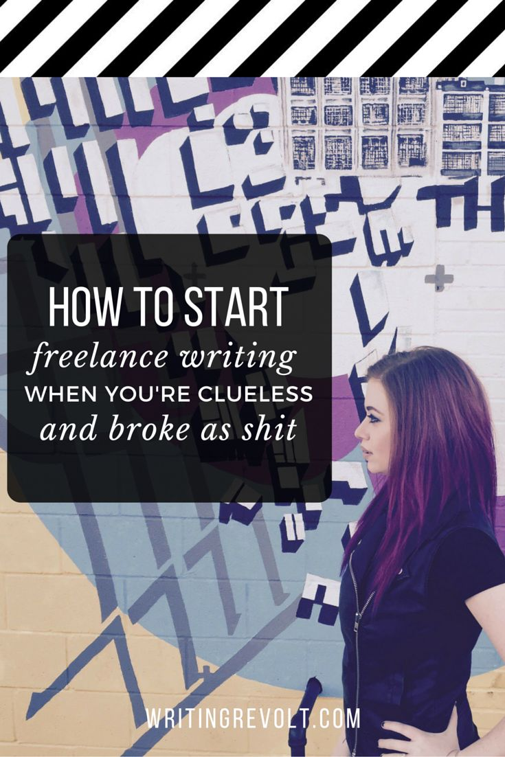 This is the ultimate guide to freelance writing for beginners! If you're wondering how to start freelance writing so you can make money writing online, read and learn, friend. :) https://www.writingrevolt.com/how-to-start-freelance-writing-when-youre-broke-and-clueless/