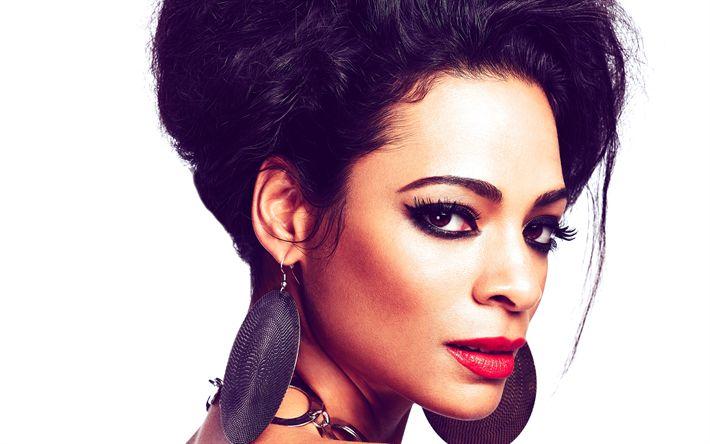 Hämta bilder Yasmin Kadi, 4k, Indisk sångare, make-up, porträtt, vacker kvinna