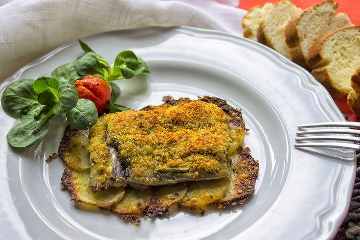 Pesce spatola al forno su letto di patate croccanti   bigodino.it
