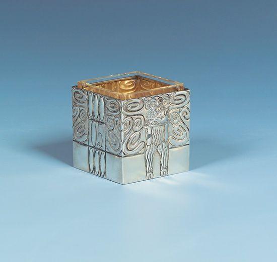 Carl Otto Czeschka (Austrian, 1878-1960), Wiener Werkstätte, Silver abd Glass Box, 1905.: