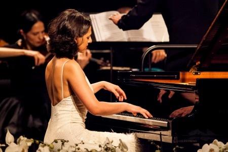 Khatia Buniatishvili le 28.07.2012 au Verbier Festival © Nicolas Brodard