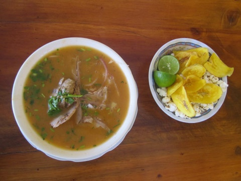 Encebollado Ecuatoriano- my mom just learned how to make this... I will sure learn soon.. cause my boyfriend and I love it!
