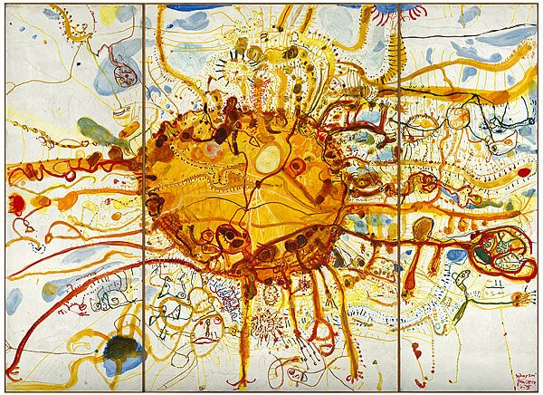 Amazing painting. Best seen live in full size 412.5x305 cm. John Olsen, National Gallery of Australia