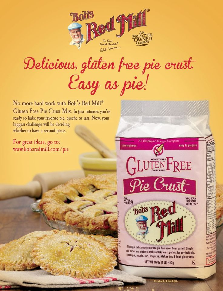 New Gluten Free Pie Crust Mix from Bob's Red Mill | www.bobsredmill.com/pieGluten Free Pie