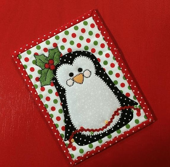 Polly Penguin Mug Rug