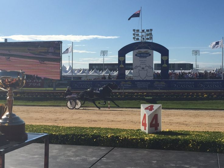 Lazarus wins the 2016 Christchurch Casino NZ Trotting Cup at Addington Raceway