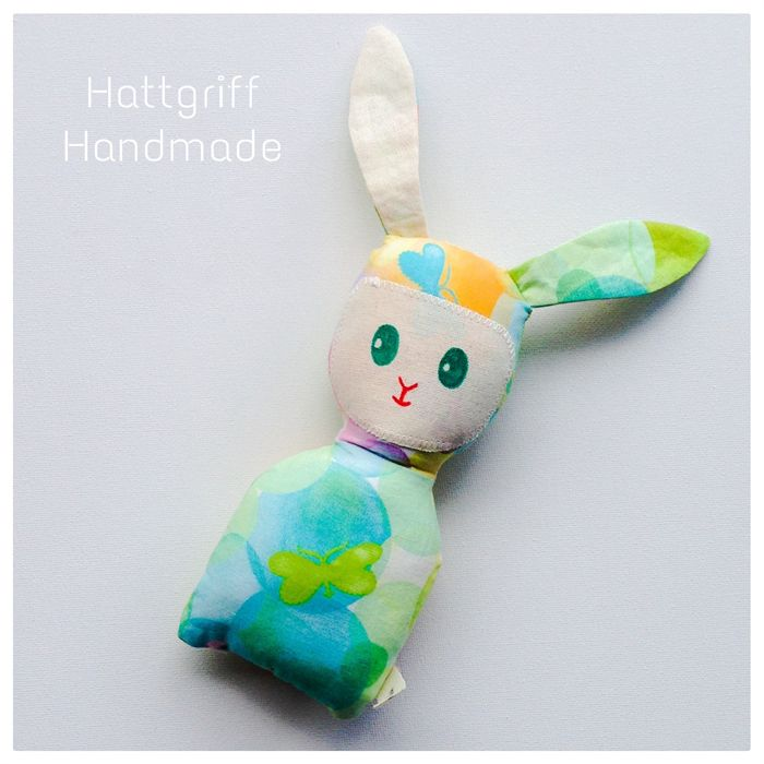 READY TO SHIP Mint n' Pastel Baby Bunny