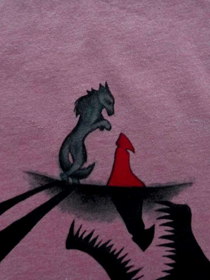 Wolf red riding hood shadow
