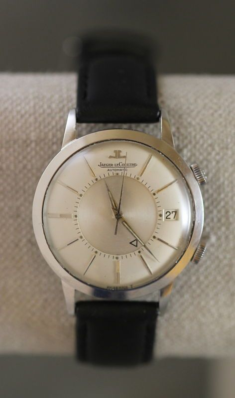 JAEGER LECOULTRE VINTAGE MEMOVOX AUTOMATIC DATE ALARM GENTS SIGNED WRIST WATCH