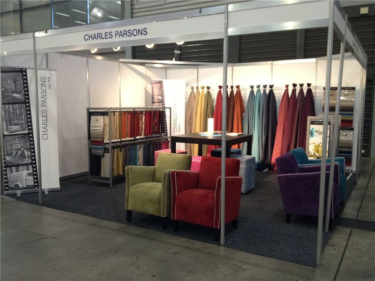 Charles Parsons Interiors stand at the Harvey Norman Furniture and Bedding Show 2013