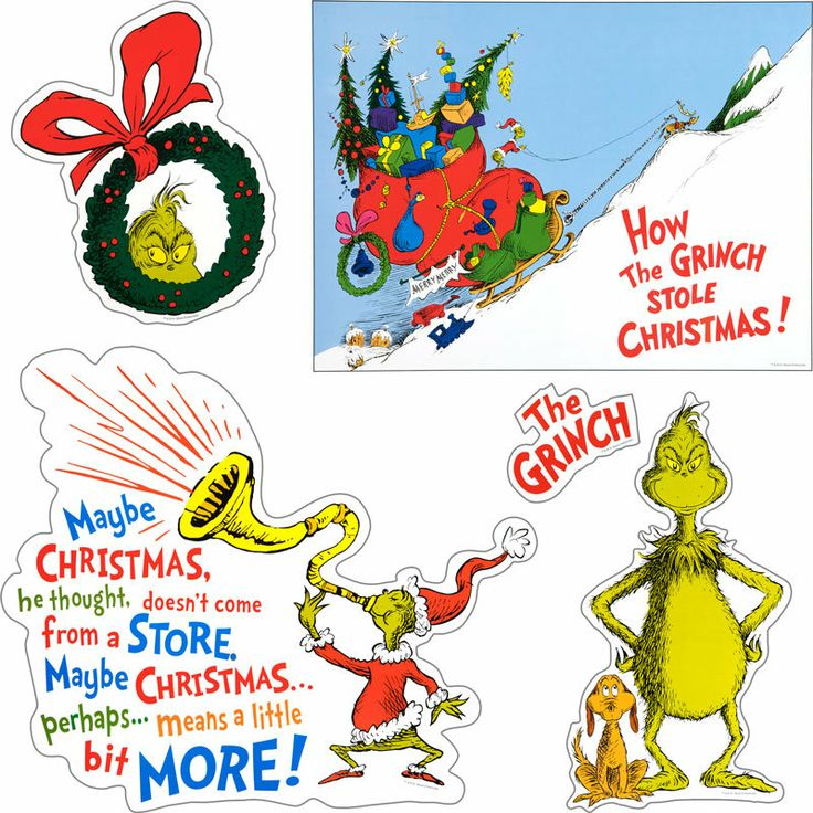 "Grinch Bulletin Board Ideas | Home Dr. Seuss™ ""The Grinch"" Bulletin Board Set"