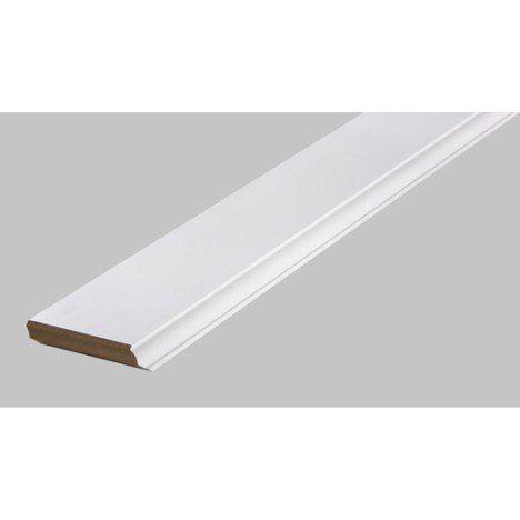 Plinthe MDF (médium) revêtu mélaminé moulurée blanc, 120 x 19 mm x 2.4 m