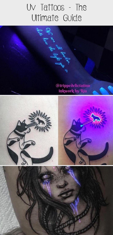 UV Tattoos The Ultimate Guide blacktattooFrauen