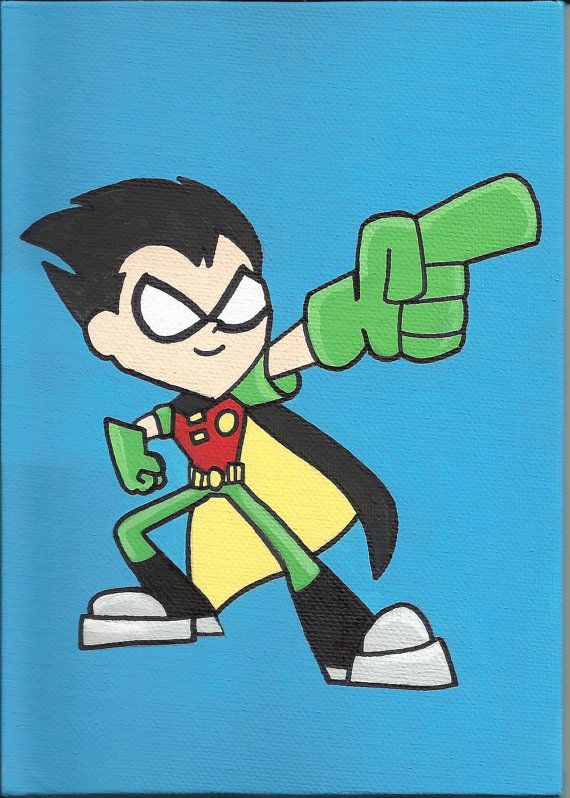 Robin from Teen Titans Go by EcholynnesEtchings on Etsy