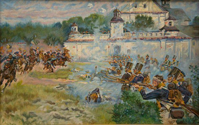 Obrona Klasztoru 26 maj 1831r, Jerzy Kossak