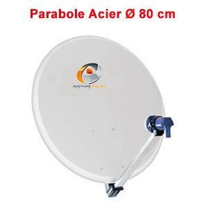 Parabole 80 cm - Antenne satellite parabolique diamètre 80 CM