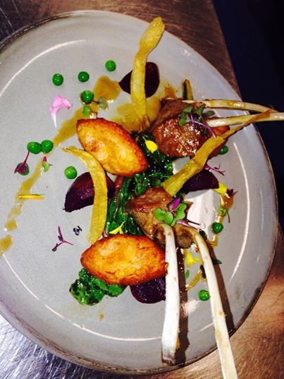 Tony Howell's special of the week - lamb racks with garden fresh heirloom vegetables. Looks delicious!
