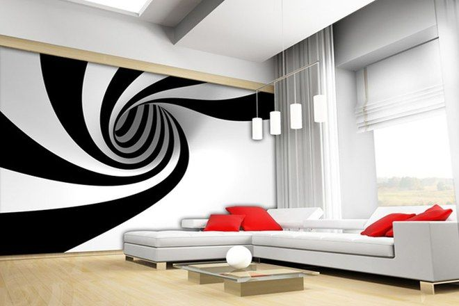 Black and white luxury wall mural
