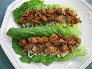 Molly Woo's chicken lettuce wrap recipe