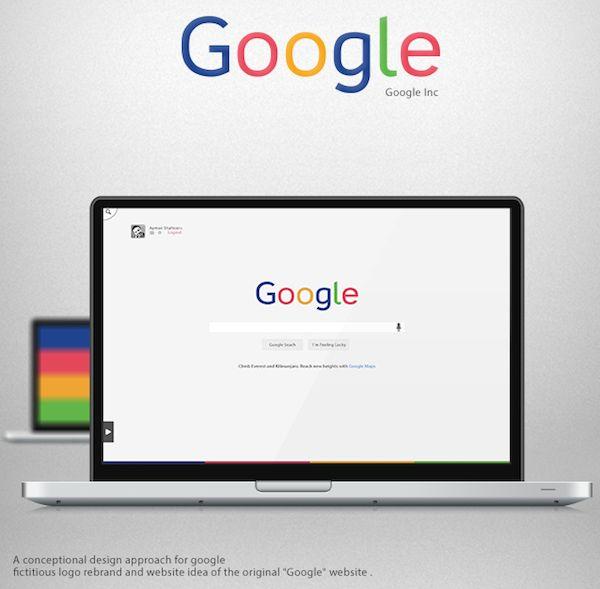 Designer Reimagines Google's Logo & Website