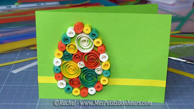 bricolage carte paques quilling facile paques quilling carte paques ...