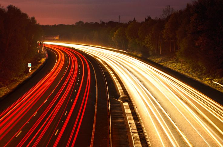 Light Trails - Motorway - Photography