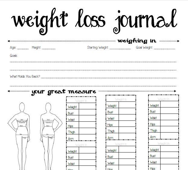 Free Printable Weight Loss Journal   Serenity You: Seasons of Homemakers {Sponsor Spotlight}