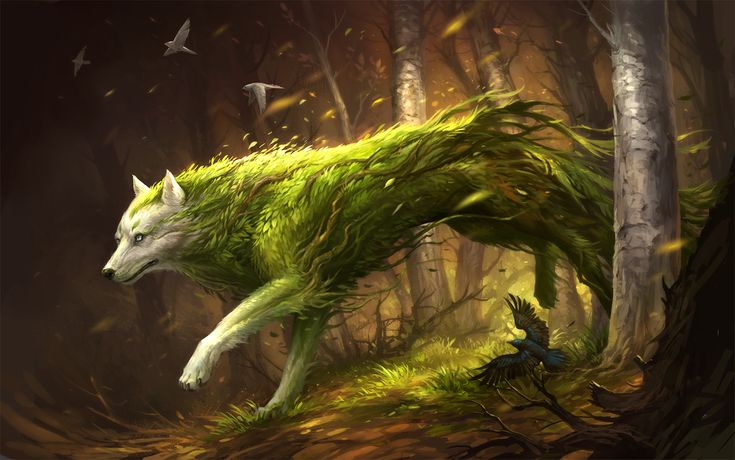 Cu Sith (Fae/Beast)(Large) – Horse sized green wolf-like fae dogs that have close ties with plants and nature. Their aura heals plants and plant creatures and their drool spawns Devils Snare, from their footprints grow the most beautiful plants. While they are good for the natural world, they are fierce haters of humans and other creatures that often spoil nature. Many other fae and plants use these as mounts and guardians. (Scottish)