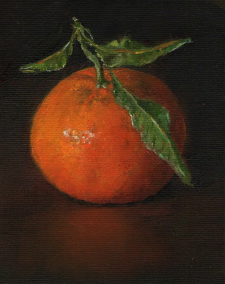 Original Oil Painting/ Marjorie Wilson/ Miniature Still Life - 'Little Clem'