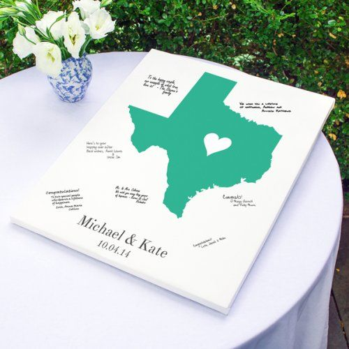 Personalized Home State Canvas Guest Book by Beau-coup