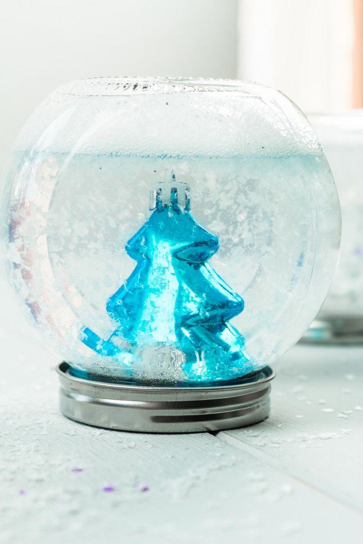Die besten 25 schneekugel basteln ideen auf pinterest diy schneekugel schneekugel handwerk - Schneekugel selber machen glycerin ...