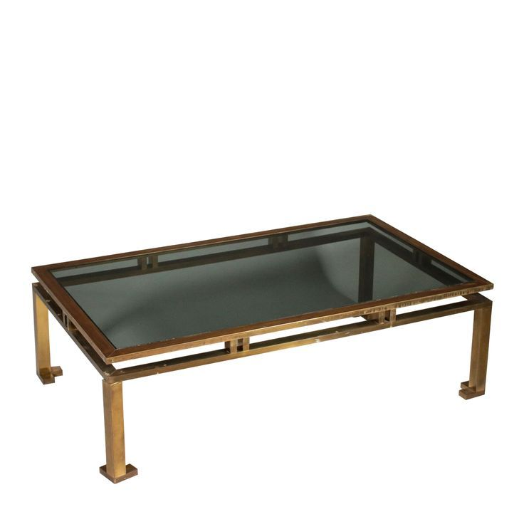 Table Brass Smoked Glass Vintage Italy 60s 70s Vintage Coffee Table Brass Coffee Table Smoked Glass
