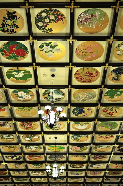 the ceiling of Aoyama Family House in Otaru, Hokkaido, Japan