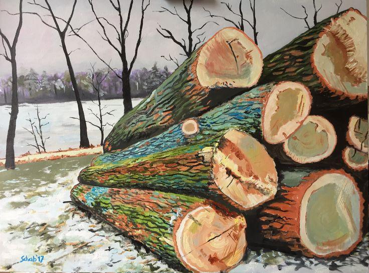 Felled trees- 60x80vm, oil on canvas